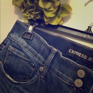 Express cropped legging mid rise